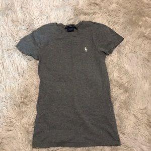 Grey Ralph Lauren cotton sports t shirt